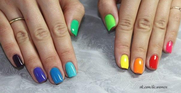 Дизайн ногтей разный гель