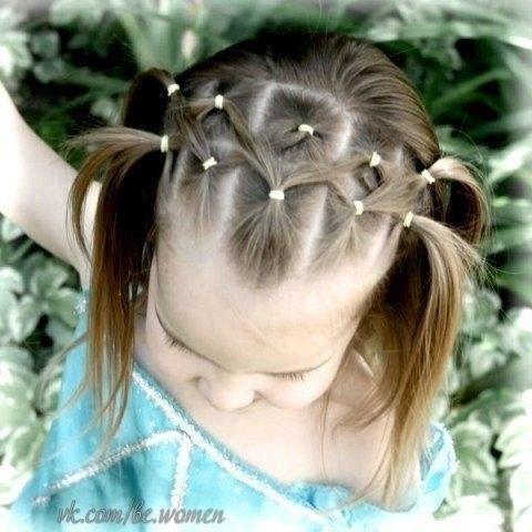 фото детских простых причесок