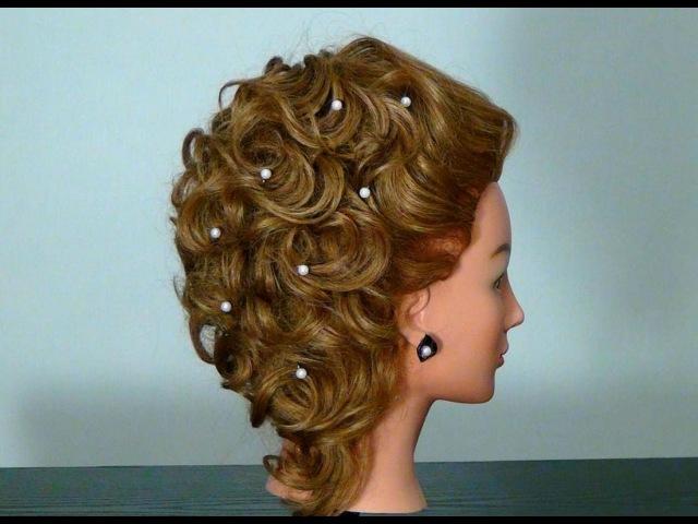 Причёска на средние волосы своими руками вечерняя