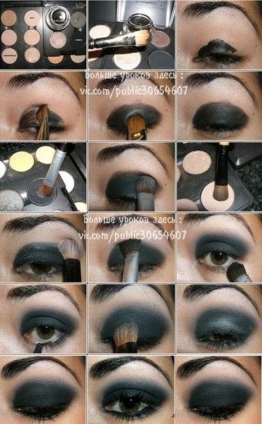 Темные глаза макияж как сделать